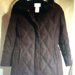 Womans Brown White Stag Winter Parka/ Coat/Jacket